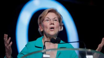 Democratic presidential candidate, Sen. Elizabeth Warren, D-Mass., speaks at the 25th Essence Festival in New Orleans, Saturday, July 6, 2019. (AP Photo/Gerald Herbert)