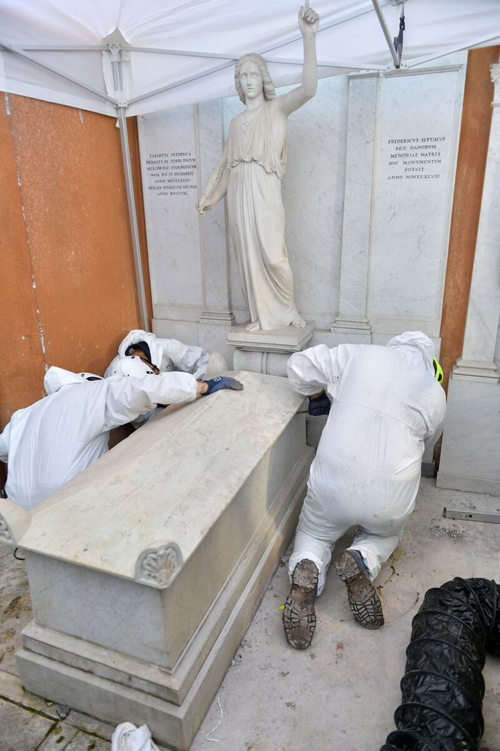 A new mystery came to light after the tombs of two 19th century princesses were excavated last week - and found to be empty