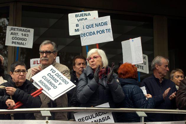 Manifestación en Madrid contra el arresto de Ángel Hernandez, el pasado 5 de