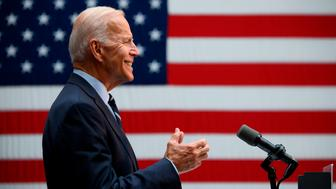 Former US Vice President Joe Biden, the leading Democratic 2020 presidential candidate, gestures as he holds a speech about his foreign policy vision for America on July 11, 2019 at the Graduate Center at City University New York City. (Photo by Johannes EISELE / AFP)        (Photo credit should read JOHANNES EISELE/AFP/Getty Images)