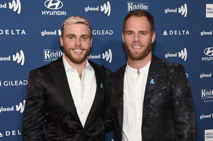 """Olympian Gus Kenworthy (left) and Matthew Wilkas first connected on Instagram in 2015. """"I think he said he really liked my sense of humor and thought I was funny,"""" Wilkas recalled."""
