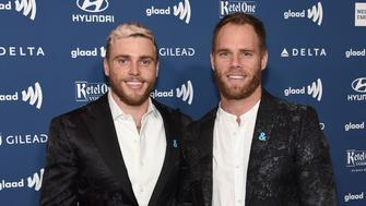 NEW YORK, NEW YORK - MAY 04: Gus Kenworthy (L) and Matthew Wilkas attend the 30th Annual GLAAD Media Awards New York  at New York Hilton Midtown on May 04, 2019 in New York City. (Photo by Jamie McCarthy/Getty Images for GLAAD)