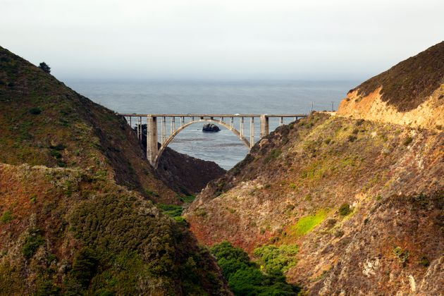 Bixby Bridge features in the