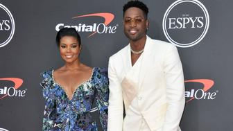 LOS ANGELES, CALIFORNIA - JULY 10: (L-R) Gabrielle Union and Dwayne Wade attend the 2019 ESPY Awards at Microsoft Theater on July 10, 2019 in Los Angeles, California. (Photo by Allen Berezovsky/WireImage)