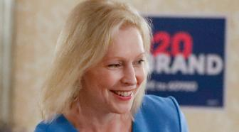 Democratic presidential hopeful Sen. Kirsten Gillibrand, D-N.Y., greets attendees at a roundtable with health care workers during a campaign stop Thursday, July 11, 2019, in Pittsburgh. (AP Photo/Keith Srakocic)