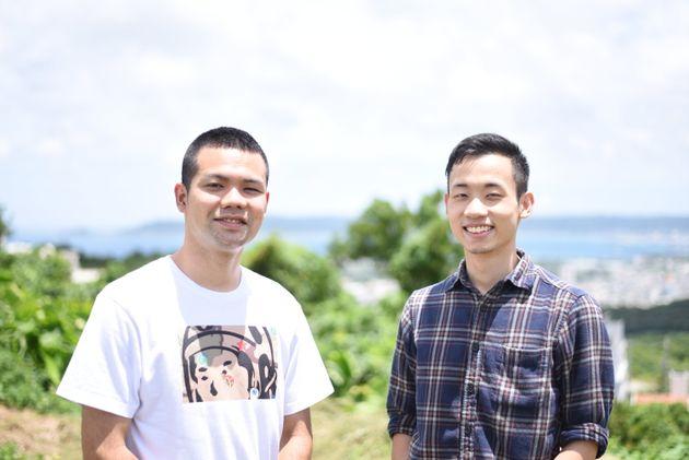 コンプレックス大百科の製作者、松田和幸さん(右)とTGすこ太さん(左)