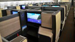 ANAの国際線、ビジネスクラスを全席個室に。4K対応の個人用モニターも