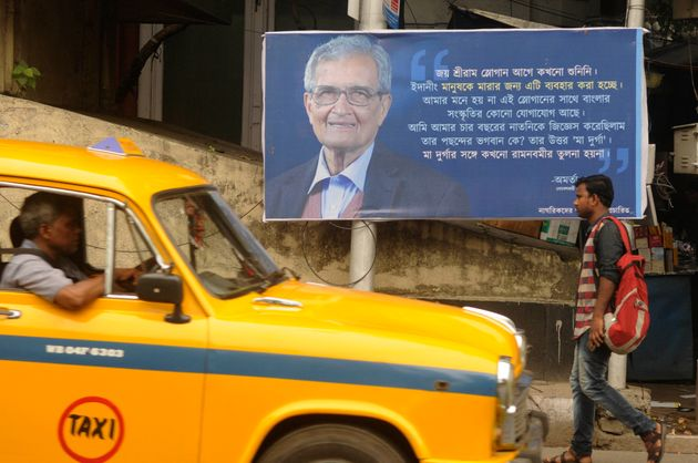 Posters With Amartya Sen's Remarks On 'Jai Shri Ram' Come Up In