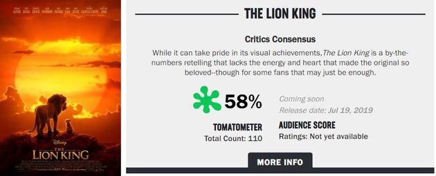 영화 '라이온 킹' 미리 본 북미 평론가는