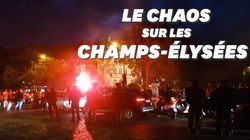 Sur les Champs-Elysées, il fête la victoire de l'Algérie avec une