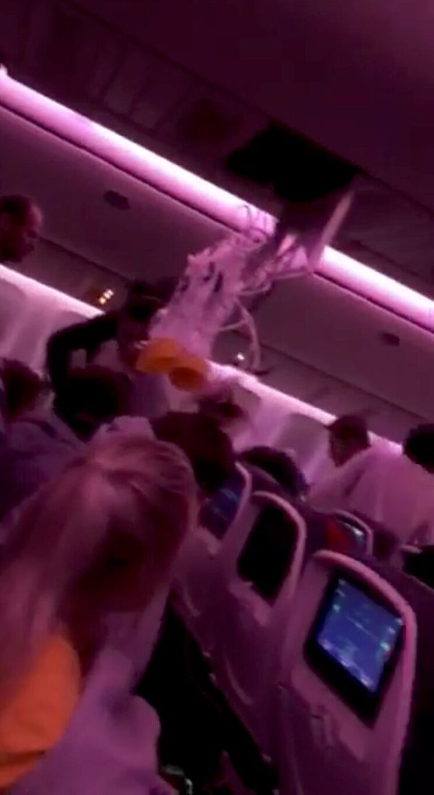 Passengers were hurled into the ceiling, such was the force of the