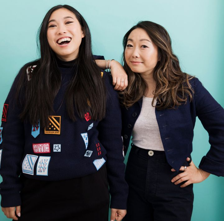 """The Farewell"" writer-director Lulu Wang (right) and star Awkwafina (left)."