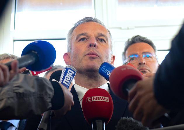 François de Rugy lors d'une conférence de presse aux Sables-d'Olonne en juin
