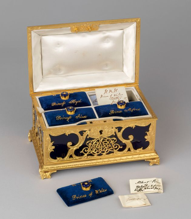 The Royal Collection Trust of a gilt-metal casket containing the teeth of Victoria's eldest children...