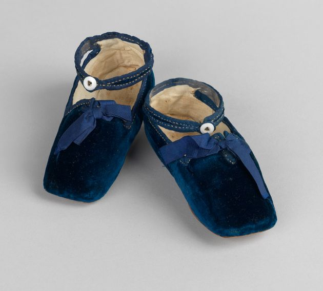 The first shoes worn by Prince Albert Edward (later King Edward