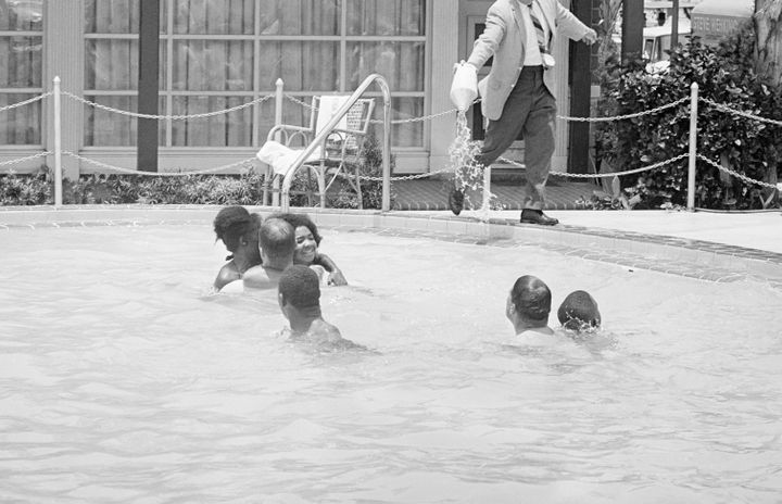 When a group of white and African American integrationists entered a St. Augustine, Fla. segregated hotel pool in 1964, the h