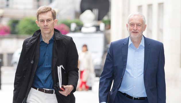 Communications director Seumas Milne and Jeremy