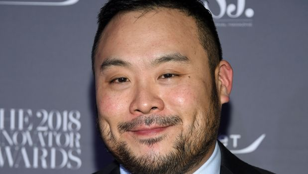 Chef David Chang attends the WSJ Magazine 2018 Innovator Awards at the Museum of Modern Art on Wednesday, Nov. 7, 2018, in New York. (Photo by Evan Agostini/Invision/AP)
