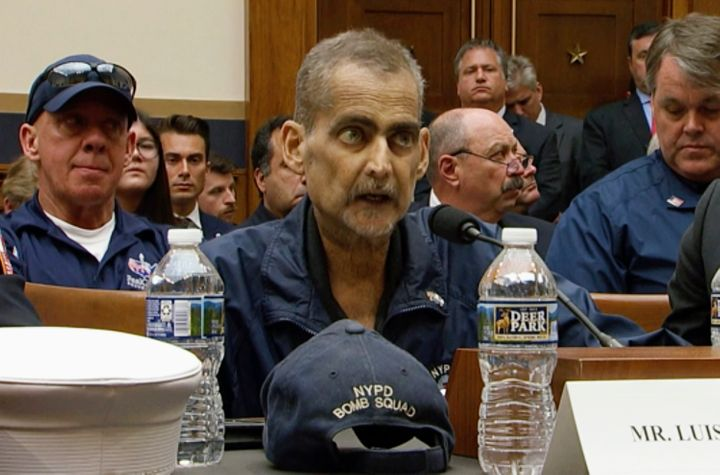 Retired New York police detective and 9/11 responder Luis Alvarez testifies during aHouse Judiciary Committee hearing a