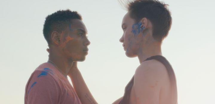 """This Is Magic"" stars Justice Jamal Jones (left) and Oslo Grace as a young queer couple who enjoy a playful date after meetin"