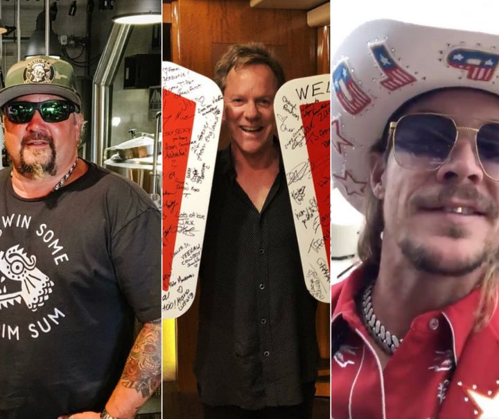 Guy Fieri, Kiefer Sutherland and Diplo were all spotted at this year's Stampede.