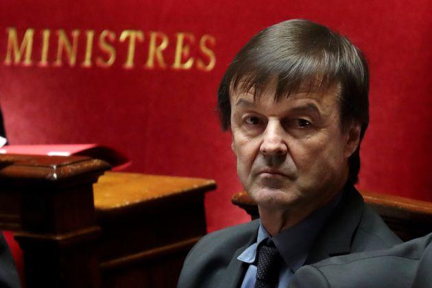 Nicolas Hulot, ici à l'Assemblée le 20 février 2018, alors qu'il était encore...