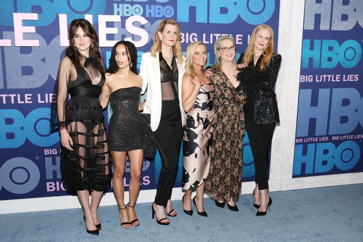 "Shailene Woodley, Zoe Kravitz, Laura Dern, Reese Witherspoon, Meryl Streep and Nicole Kidman attend the ""Big Little Lies"" Sea"