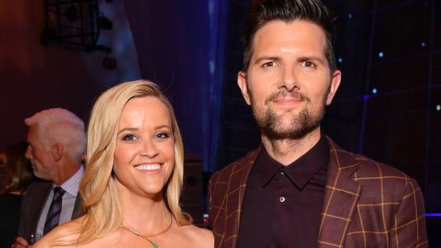 """NEW YORK, NEW YORK - MAY 29: Reese Witherspoon (L) and Adam Scott attend the """"Big Little Lies"""" season 2 premiere after party on May 29, 2019 in New York City. (Photo by Dia Dipasupil/Getty Images,)"""