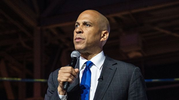 Democratic presidential candidate, Sen. Cory Booker, D- N.J., speaks at the 2019 Essence Festival at the Ernest N. Morial Convention Center on Saturday, July 6, 2019, in New Orleans. (Photo by Amy Harris/Invision/AP)