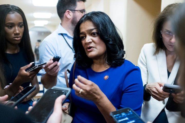 Rep. Pramila Jayapal (D-Wash.), a staunch immigrant rights advocate, also blamed Senate Democrats for approving a border fund