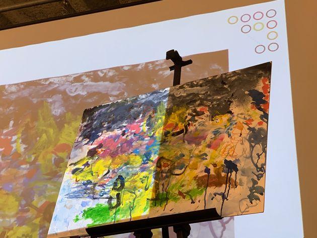 障がいを持つアーティストが描いた絵画作品