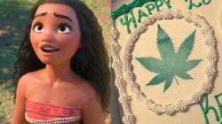 '모아나' 케이크 주문했더니 '잎'이 그려진 케이크가 온