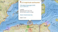 Secousse tellurique de magnitude 4,9 à