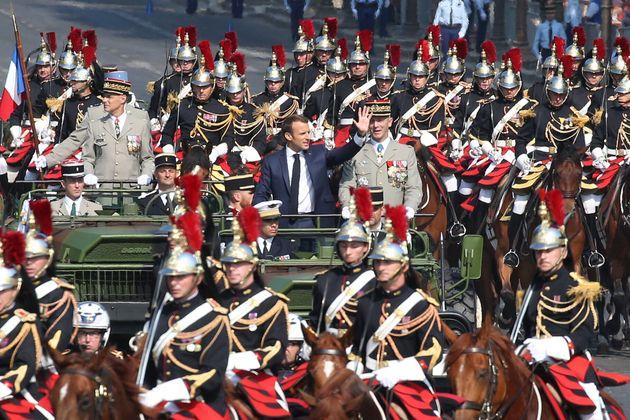 Emmanuel Macron à Paris lors du défilé du 14 juillet