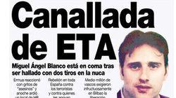 22 años del asesinato de Miguel Ángel Blanco: las portadas que nos helaron el