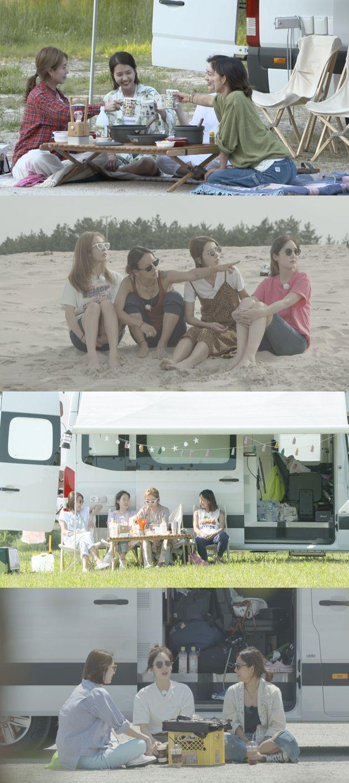 핑클이 출연한 예능 '캠핑클럽'이 첫방을 앞두고 방송 장면들을 공개했다(사진,