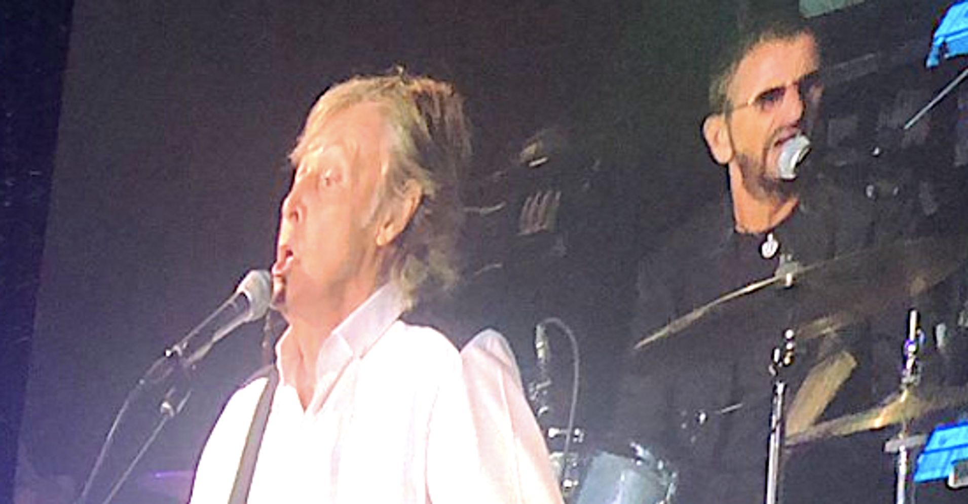 Westlake Legal Group 5d2ade3b2400008c1793570a Beatles Fans Go Bonkers As Paul And Ringo Reunite On L.A. Stage
