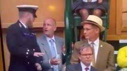 Las intentonas de Woody Harrelson para llegar a su asiento en Wimbledon son lo mejor que vas a ver