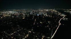 Las impresionantes imágenes aéreas de Manhattan a oscuras por un apagón