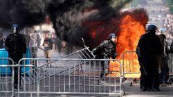Heurts entre gilets jaunes et forces de l'ordre sur les Champs-Élysées en marge du défilé du 14