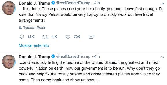 Donald Trump siendo racista en tres