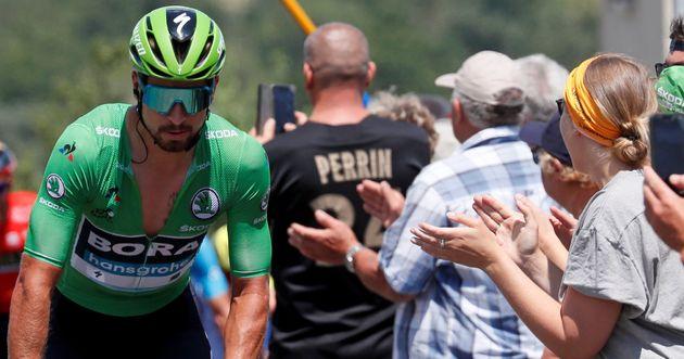 Peter Sagan, el triple Campeón del Mundo que o amas u odias, el último en la etapa del