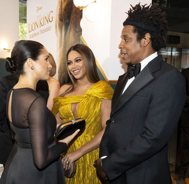 Meghan Markle Met Beyonce At London Premiere Of 'The Lion King'