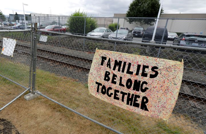 The detention center, seen here in 2018, holds migrants pending deportation proceedings as well as immigration-seeking parent