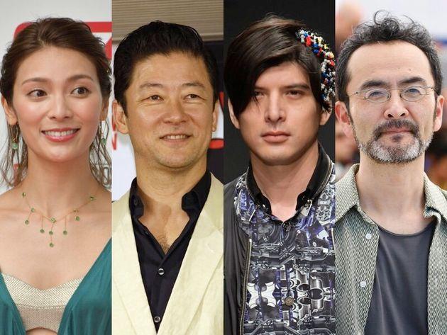 秋元才加さん、浅野忠信さん、城田優さん、古舘寛治さん(左から)