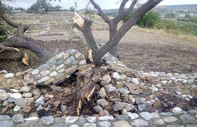 Αποκαταστάθηκαν οι μικρές ζημιές σε αρχαιολογικούς χώρους και μνημεία στη