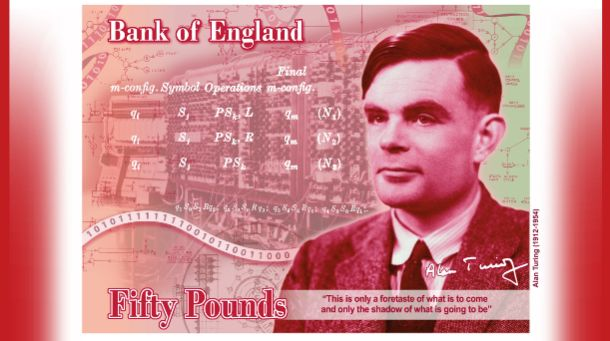 The new £50 note will feature Alan Turing