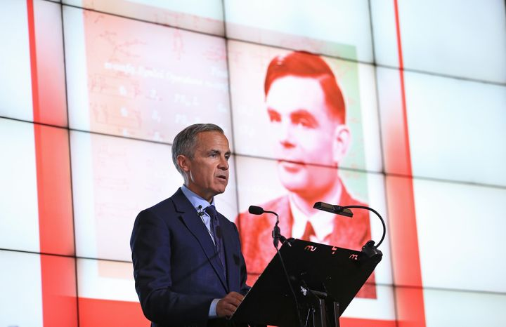 Governor of the Bank of England, Mark Carney, during the announcement