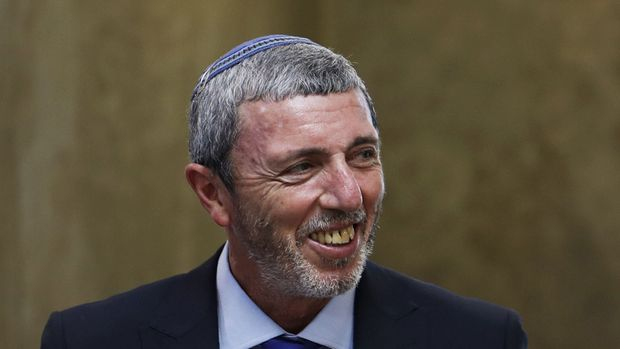 """Israeli Education Minister Rafi Peretz arrives to the weekly cabinet meeting in Jerusalem on July 14, 2019. - Israeli Prime Minister Benjamin Netanyahu today warned the head of Lebanon's Tehran-backed Hezbollah that """"crushing"""" retaliation would follow any attack after its leader said the group's rockets could reach Tel Aviv. (Photo by RONEN ZVULUN / POOL / AFP)        (Photo credit should read RONEN ZVULUN/AFP/Getty Images)"""