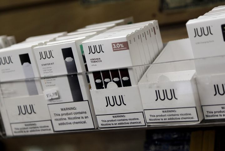 Juul's products, which are the bestselling e-cigarettes in the U.S., are marketed to adults — though use among tee